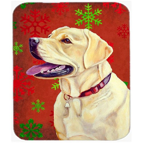 Carolines Treasures LH9338MP Labrador Red And Green Snowflakes Christmas Mouse Pad Hot Pad Or Trivet - 7.75 x 9.25 In.