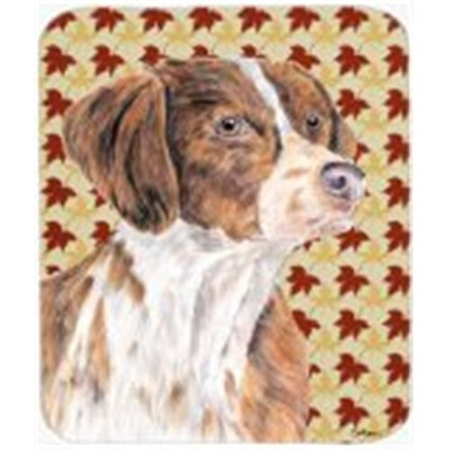 Carolines Treasures SC9229MP 9.5 x 8 in. Brittany Fall Leaves Portrait Mouse Pad Hot Pad or Trivet
