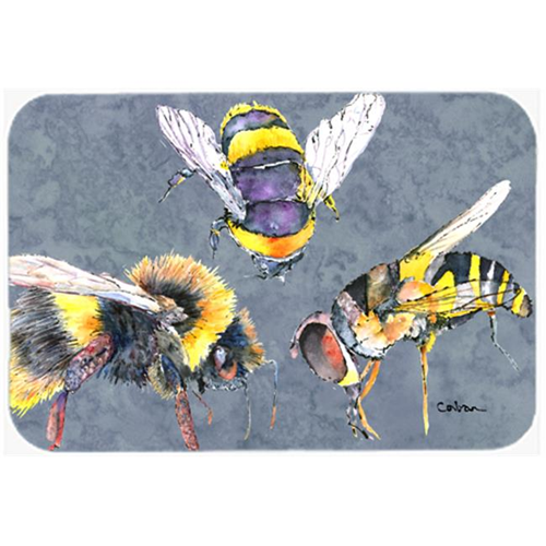 Carolines Treasures 8879MP 9.5 x 8 in. Bee Bees Times Three Mouse Pad Hot Pad or Trivet