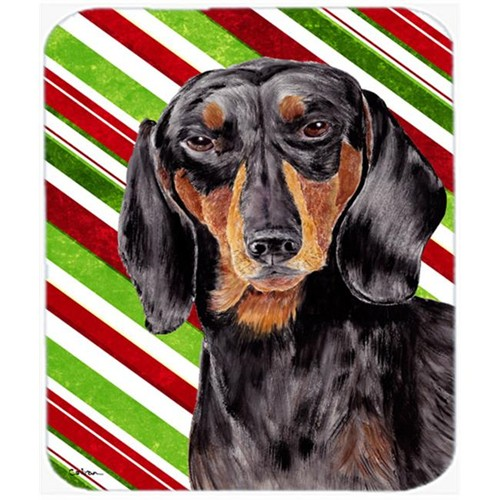 Carolines Treasures SC9323MP Dachshund Candy Cane Holiday Christmas Mouse Pad Hot Pad or Trivet