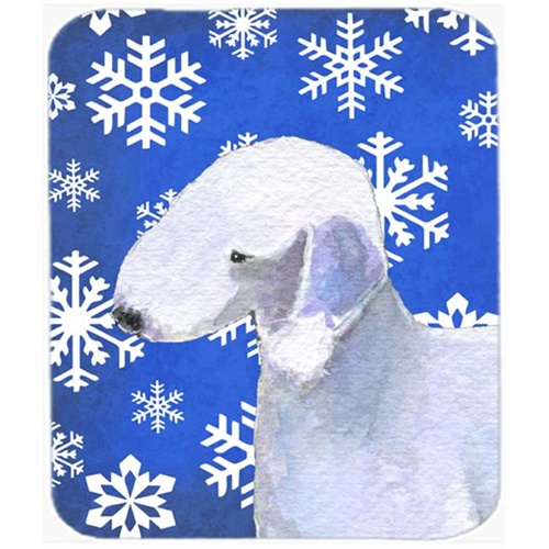 Carolines Treasures SS4621MP Bedlington Terrier Winter Snowflakes Holiday Mouse Pad Hot Pad or Trivet