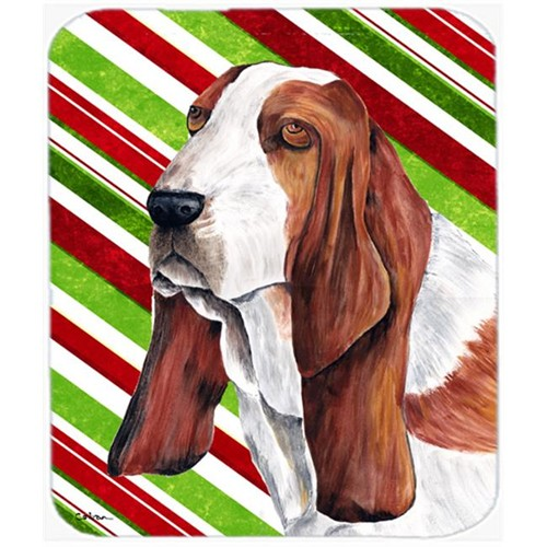 Carolines Treasures SC9332MP Basset Hound Candy Cane Holiday Christmas Mouse Pad Hot Pad or Trivet
