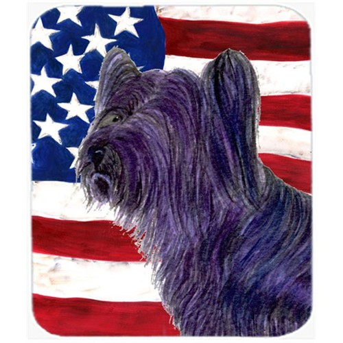Carolines Treasures SS4219MP Usa American Flag With Skye Terrier Mouse Pad Hot Pad or Trivet