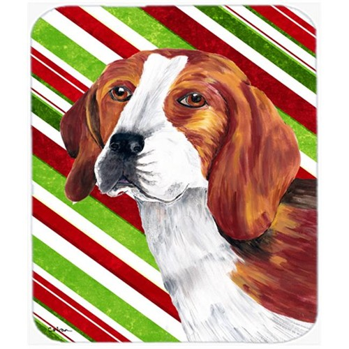 Carolines Treasures SC9329MP Beagle Candy Cane Holiday Christmas Mouse Pad Hot Pad or Trivet
