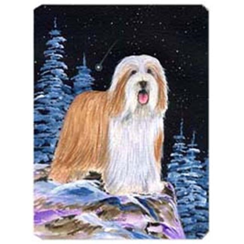 Carolines Treasures SS8451MP Starry Night Bearded Collie Mouse Pad