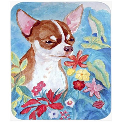 Carolines Treasures 7053MP 9.5 x 8 in. Chihuahua in flowers Mouse Pad Hot Pad or Trivet