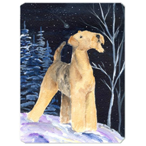 Carolines Treasures SS8361MP Starry Night Airedale Mouse Pad