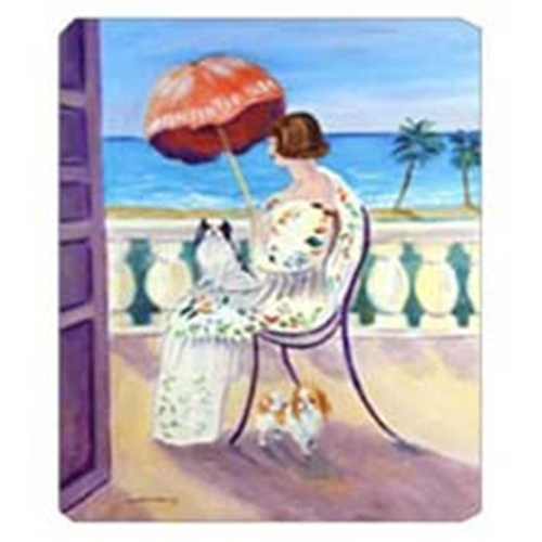 Carolines Treasures 7260MP 8 x 9.5 in. Lady with her Japanese Chin Mouse Pad Hot Pad or Trivet