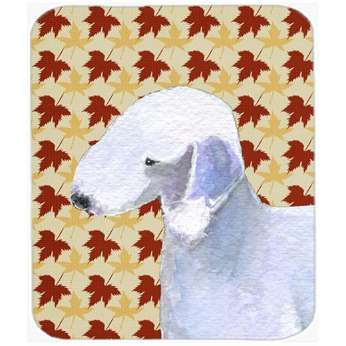 Carolines Treasures SS4373MP Bedlington Terrier Fall Leaves Portrait Mouse Pad Hot Pad Or Trivet