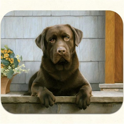 Fiddlers Elbow m17 Chocolate Lab-Porch Mouse Pad Pack Of 2