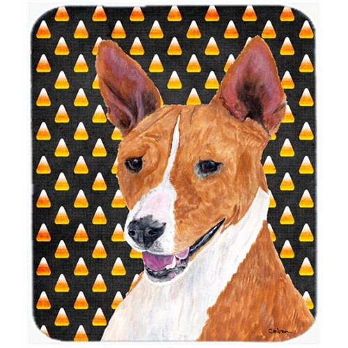 Carolines Treasures SC9185MP Basenji Candy Corn Halloween Portrait Mouse Pad Hot Pad Or Trivet