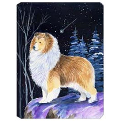 Carolines Treasures SS8368MP Starry Night Sheltie Mouse Pad