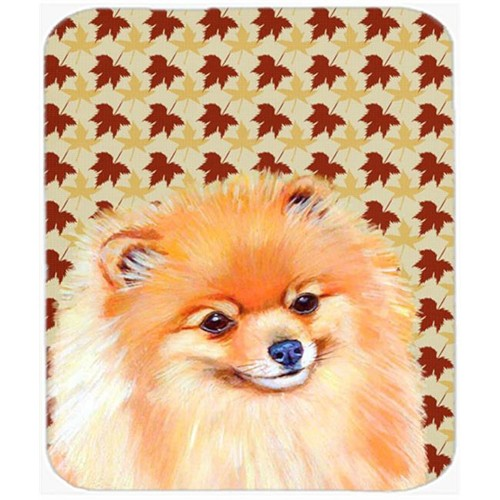Carolines Treasures LH9125MP Pomeranian Fall Leaves Portrait Mouse Pad Hot Pad or Trivet