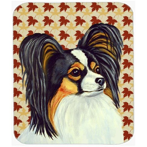 Carolines Treasures LH9120MP Papillon Fall Leaves Portrait Mouse Pad Hot Pad or Trivet