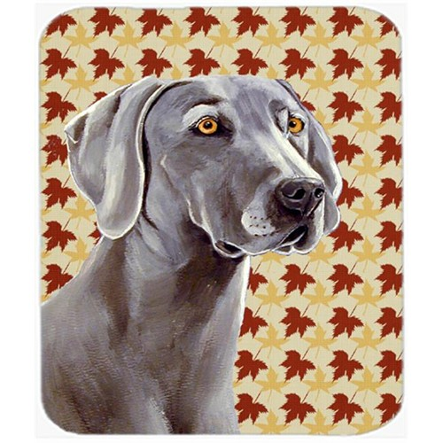 Carolines Treasures LH9116MP Weimaraner Fall Leaves Portrait Mouse Pad Hot Pad or Trivet