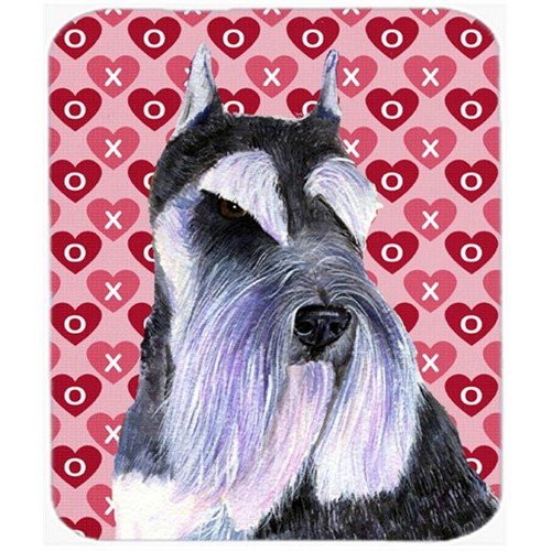 Carolines Treasures SS4477MP Schnauzer Hearts Love And Valentines Day Portrait Mouse Pad Hot Pad Or Trivet