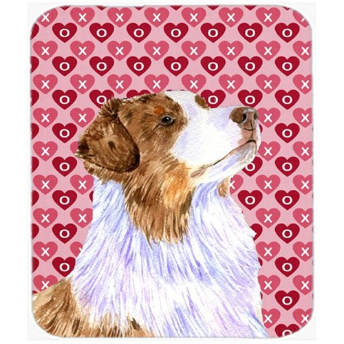 Carolines Treasures LH9138MP Australian Shepherd Hearts Love And Valentines Day Mouse Pad Hot Pad Trivet