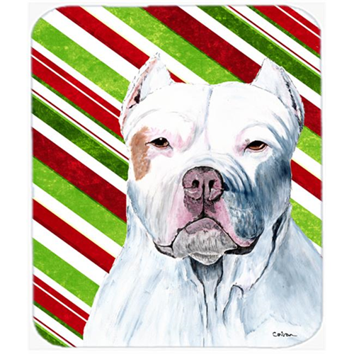 Carolines Treasures SC9341MP Pit Bull Candy Cane Holiday Christmas Mouse Pad Hot Pad or Trivet