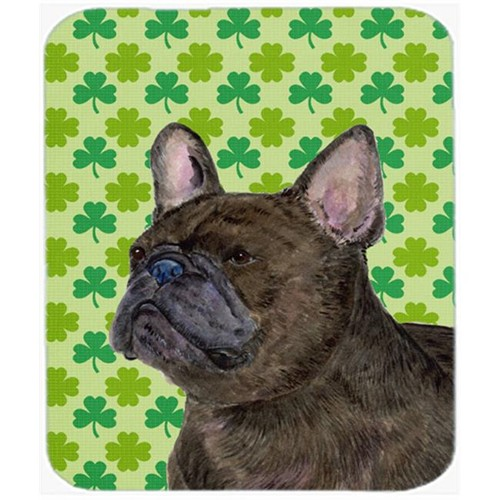 Carolines Treasures SS4450MP French Bulldog St. Patricks Day Shamrock Portrait Mouse Pad Hot Pad Or Trivet