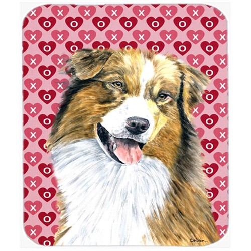 Carolines Treasures SC9242MP Australian Shepherd Hearts Love Valentines Day Mouse Pad Hot Pad Or Trivet