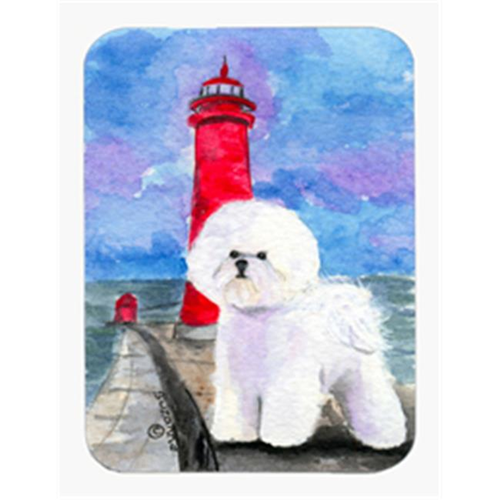 Carolines Treasures SS8891MP Lighthouse with Bichon Frise Mouse Pad & Hot Pad & Trivet