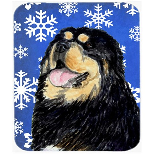 Carolines Treasures SS4650MP Tibetan Mastiff Winter Snowflakes Holiday Mouse Pad Hot Pad or Trivet