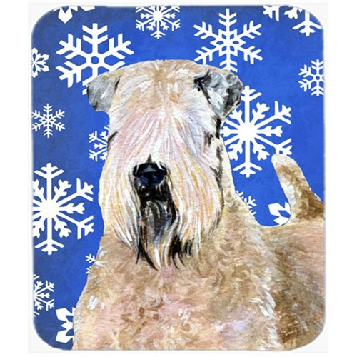 Carolines Treasures SS4631MP Wheaten Terrier Soft Coated Winter Snowflakes Mouse Pad Hot Pad or Trivet