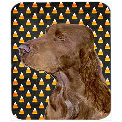Carolines Treasures SS4318MP Field Spaniel Candy Corn Halloween Portrait Mouse Pad Hot Pad or Trivet