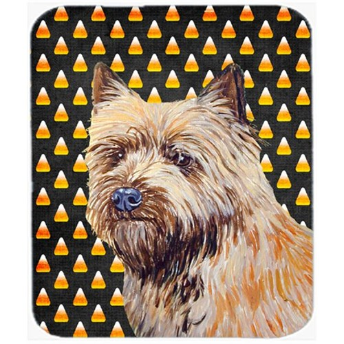 Carolines Treasures LH9061MP Cairn Terrier Candy Corn Halloween Portrait Mouse Pad Hot Pad or Trivet