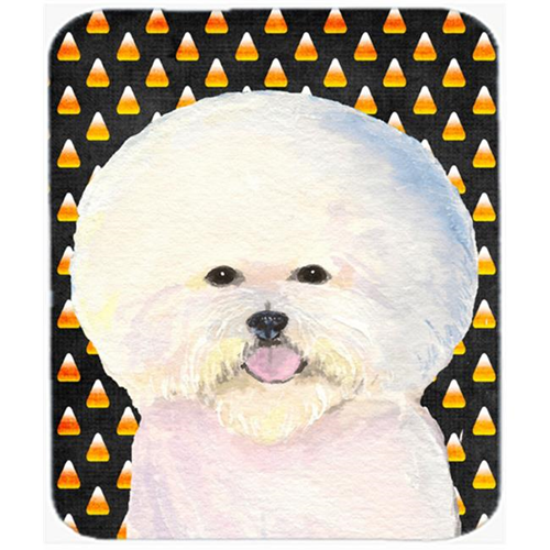 Carolines Treasures SS4319MP Bichon Frise Candy Corn Halloween Portrait Mouse Pad Hot Pad or Trivet