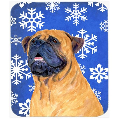Carolines Treasures SS4658MP Mastiff Winter Snowflakes Holiday Mouse Pad Hot Pad or Trivet