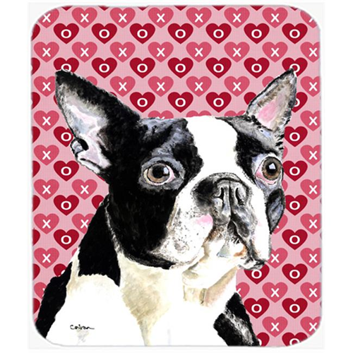 Carolines Treasures SC9279MP Boston Terrier Hearts Love And Valentines Day Mouse Pad Hot Pad Or Trivet