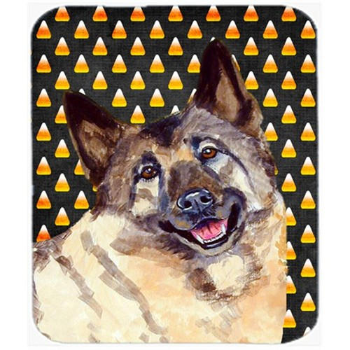 Carolines Treasures LH9048MP Norwegian Elkhound Candy Corn Halloween Portrait Mouse Pad Hot Pad or Trivet