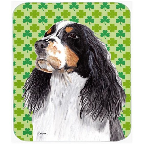 Carolines Treasures SC9281MP Springer Spaniel St. Patricks Day Shamrock Mouse Pad Hot Pad or Trivet