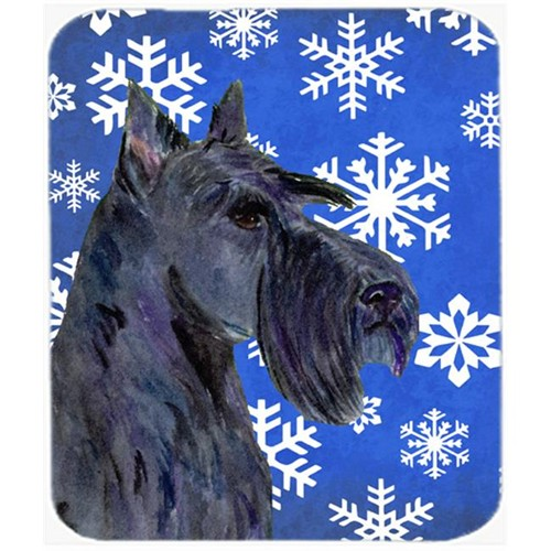 Carolines Treasures SS4667MP Scottish Terrier Winter Snowflakes Holiday Mouse Pad Hot Pad or Trivet