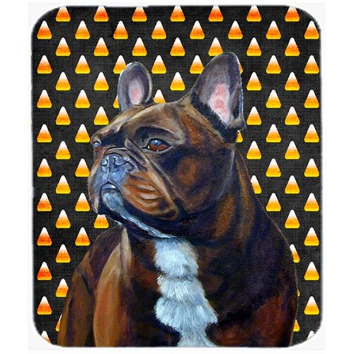 Carolines Treasures LH9081MP French Bulldog Candy Corn Halloween Portrait Mouse Pad Hot Pad or Trivet