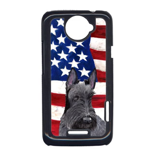 Carolines Treasures SC9032HTCONE USA American Flag With Scottish Terrier HTC One X Cell Phone Cover