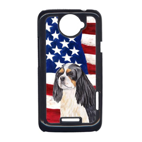 Carolines Treasures SC9114HTCONE USA American Flag With Cavalier Spaniel HTC One X Cell Phone Cover