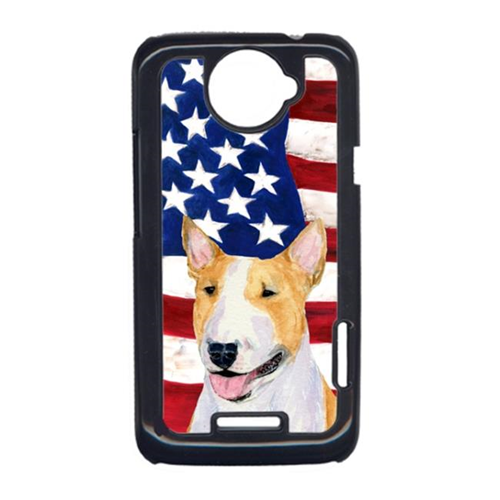Carolines Treasures SS4023HTCONE USA American Flag With Bull Terrier HTC One X Cell Phone Cover