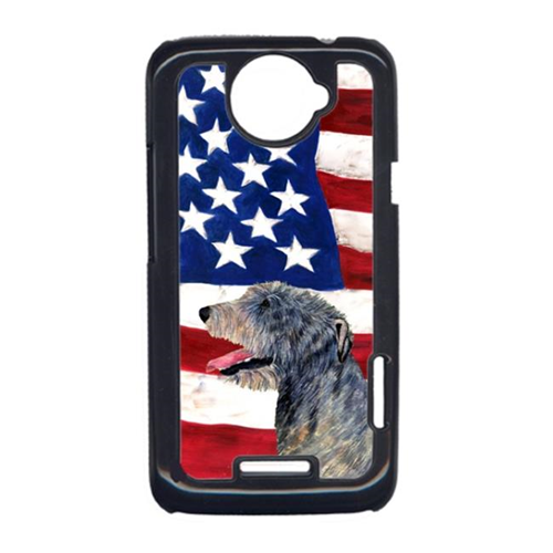 Carolines Treasures SS4033HTCONE USA American Flag With Irish Wolfhound HTC One X Cell Phone Cover