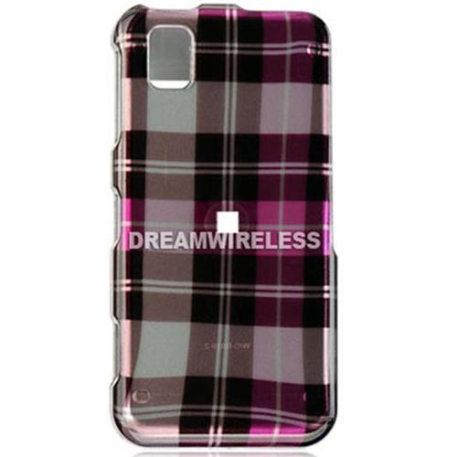 DreamWireless CASAMR810HPCK Samsung Finesse R810 Crystal Case Hot Pink Checker - Metro PCS