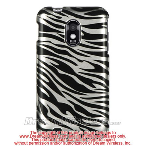DreamWireless CASAMD710SLZ Samsung Epic Touch 4G & D710 Crystal Case Silver Zebra