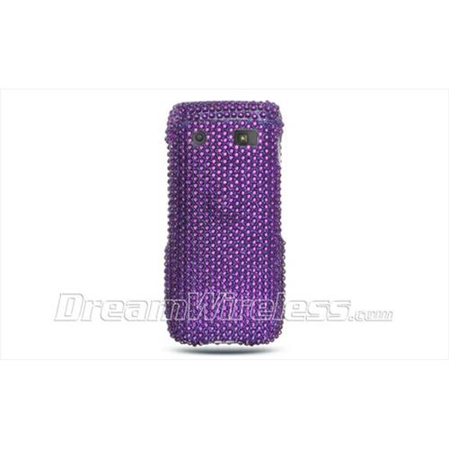 DreamWireless FDBB9100PP Blackberry 9100 Full Diamond Case Purple