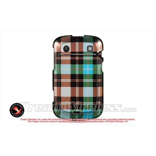 DreamWireless CABB9900BLCK Blackberry Bold Touch 9900 9930 Crystal Case - Blue Checker