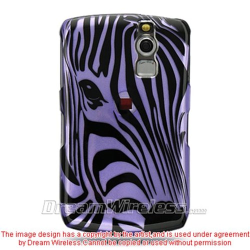 DreamWireless CABB8330PPZF Blackberry 8330 And 8300 Crystal Case Purple Zebra Face