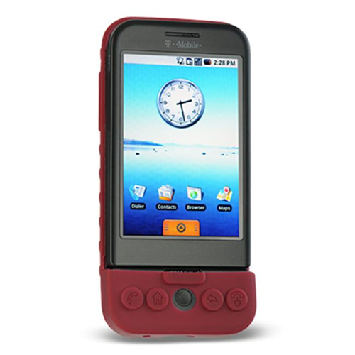 DreamWireless SCHTCG1BU-PR HTC Dream & G1 Premium Skin Case - Burgundy