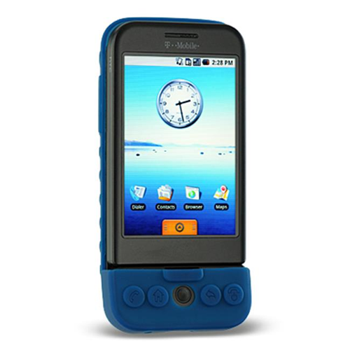 DreamWireless SCHTCG1BL-PR HTC Dream & G1 Premium Skin Case - Blue