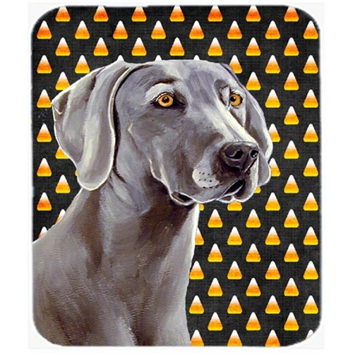 Carolines Treasures LH9082MP Weimaraner Candy Corn Halloween Portrait Mouse Pad Hot Pad or Trivet