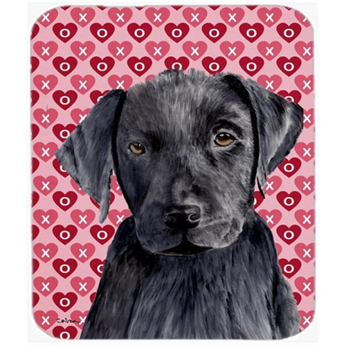 Carolines Treasures SC9275MP Labrador Black Hearts Love And Valentines Day Mouse Pad Hot Pad Or Trivet