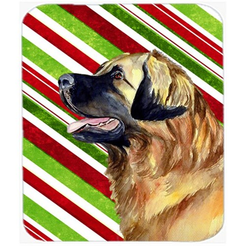 Carolines Treasures LH9258MP Leonberger Candy Cane Holiday Christmas Mouse Pad Hot Pad Or Trivet